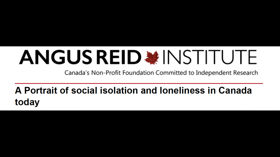 Angus Reid Institute - A Portrait of social isolation and loneliness in Canada today