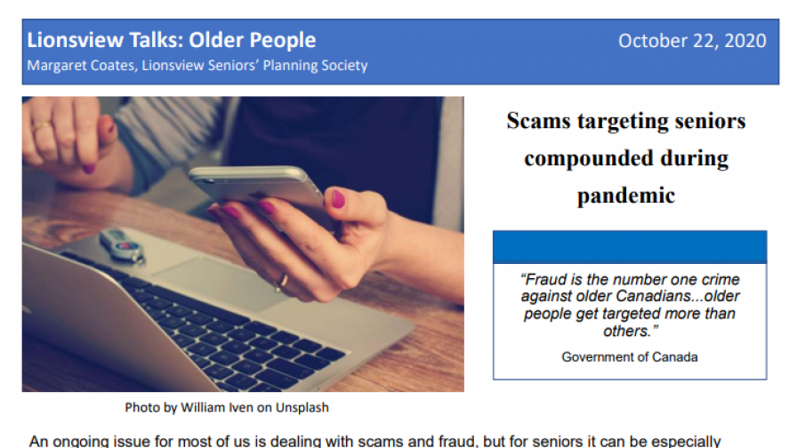 Scams targeting seniors compounded during pandemic - Older and Wiser series